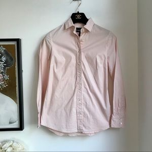 J. Crew pink stretch perfect dress shirt XXSP